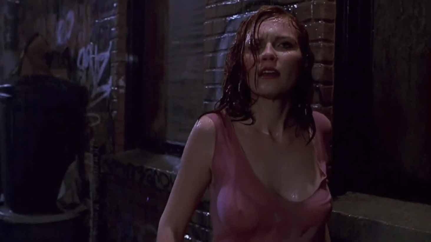 Kirsten Dunst's nipples in Spider-Man