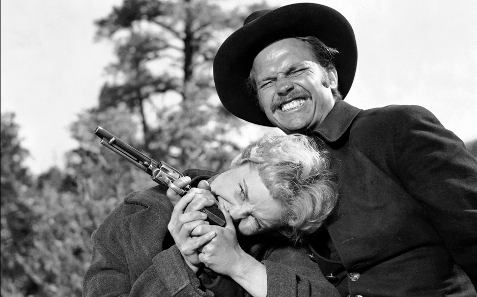 Janet Leigh and Ralph Meeker in The Naked Spur