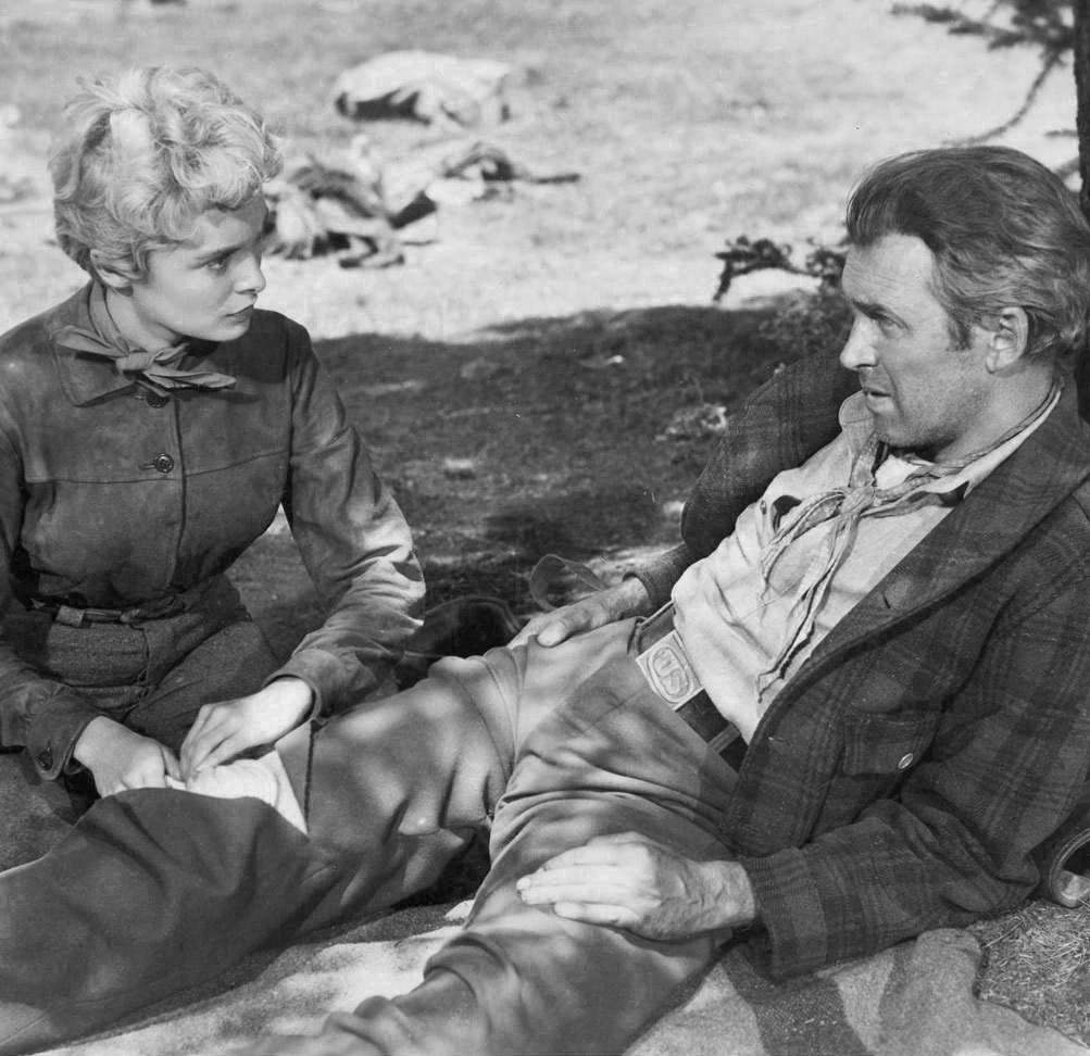 Janet Leigh and Jimmy Stewart in The Naked Spur