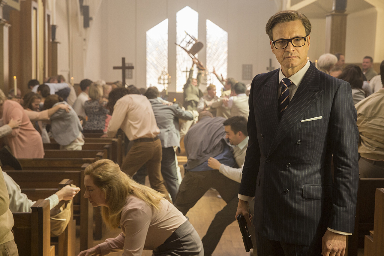 Colin Firth in Kingsman: The Secret Service