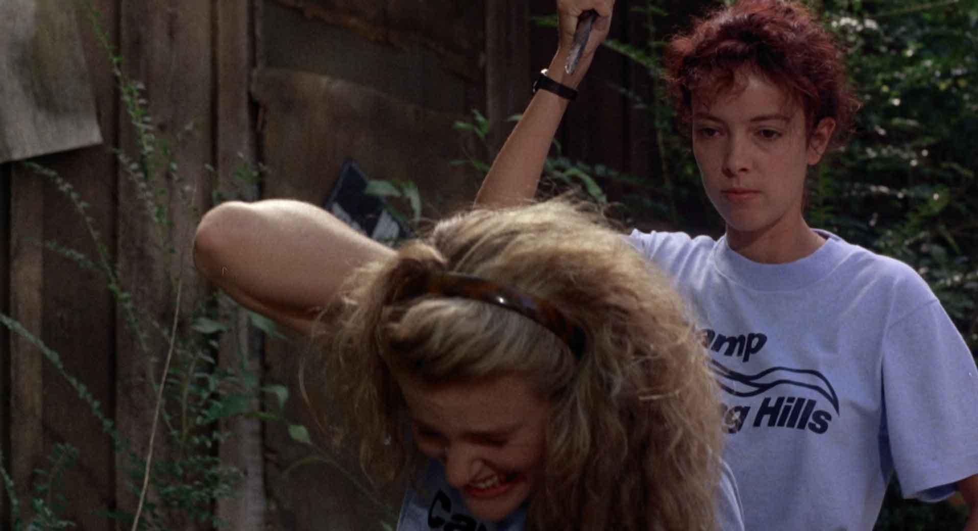 Valerie Hartman and Pamela Springsteen in Sleepaway Camp II: Unhappy Campers