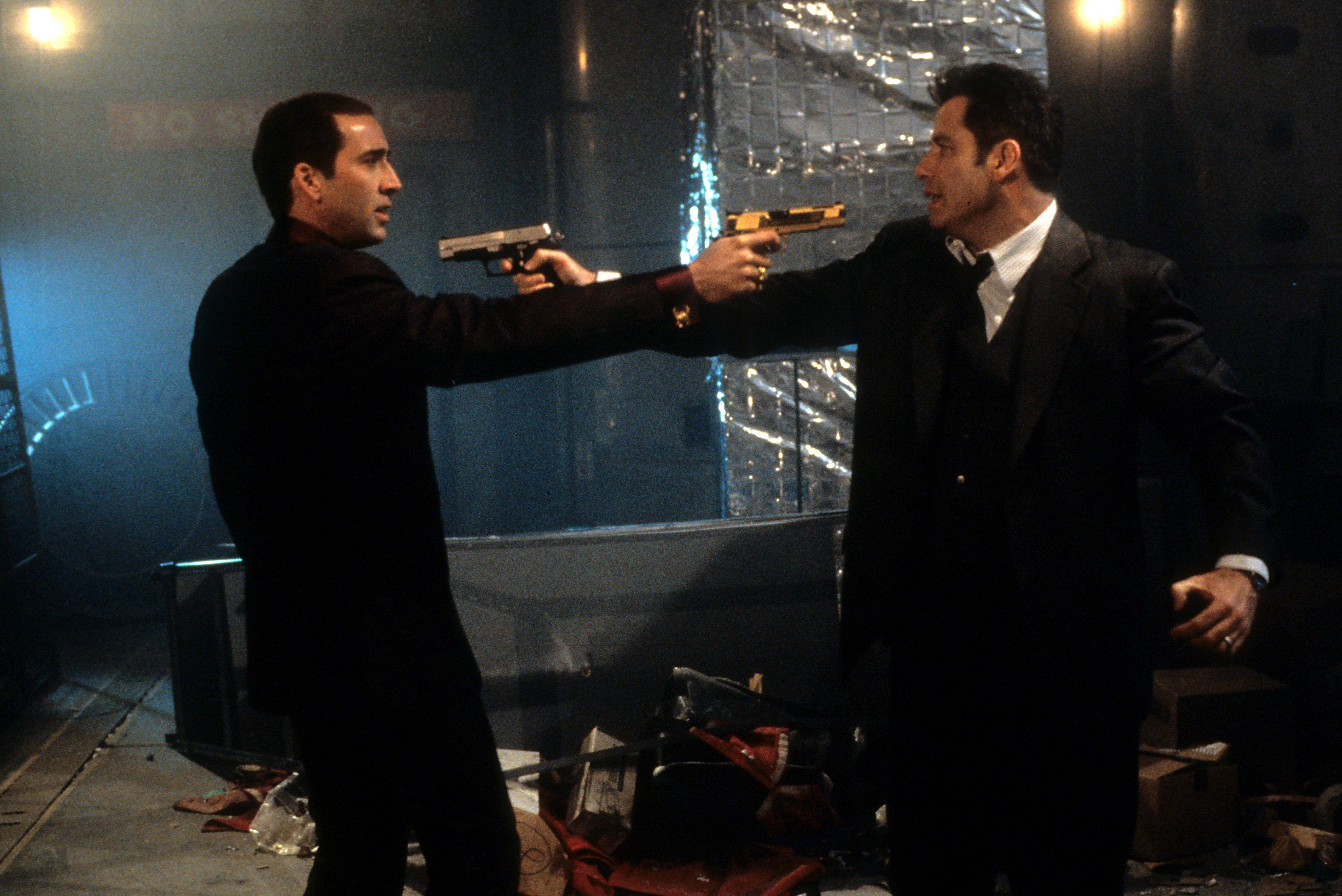 Nicolas Cage (left) and John Travolta in Face/Off